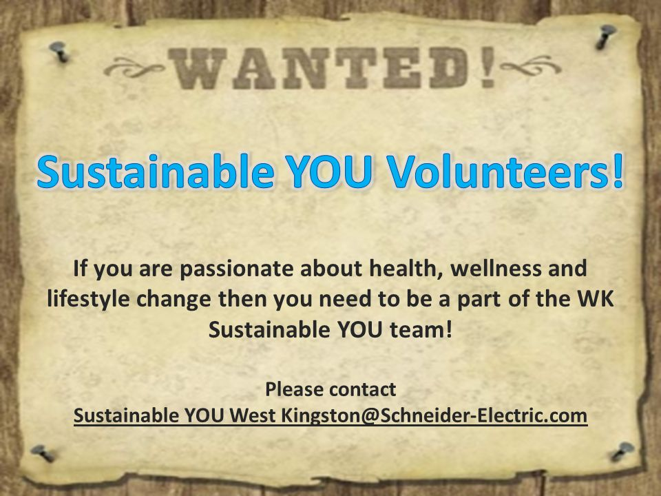If you are passionate about health, wellness and lifestyle change then you need to be a part of the WK Sustainable YOU team.