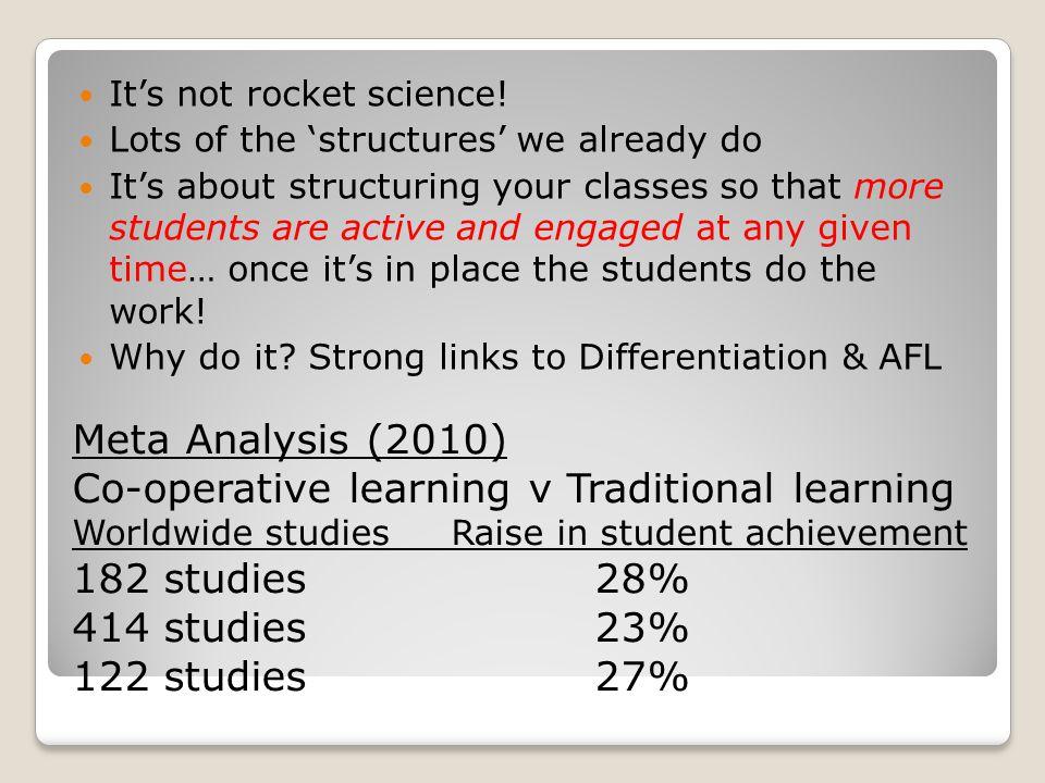 It's not rocket science.