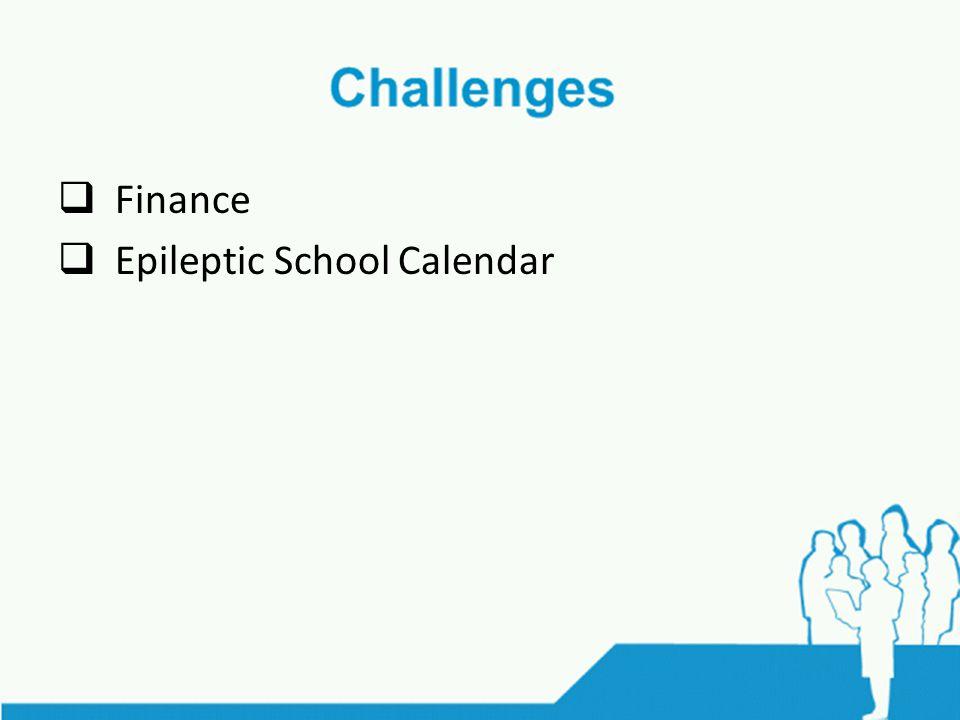  Finance  Epileptic School Calendar