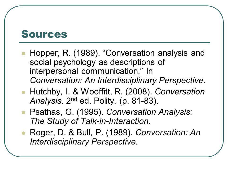 Sources Hopper, R. (1989).