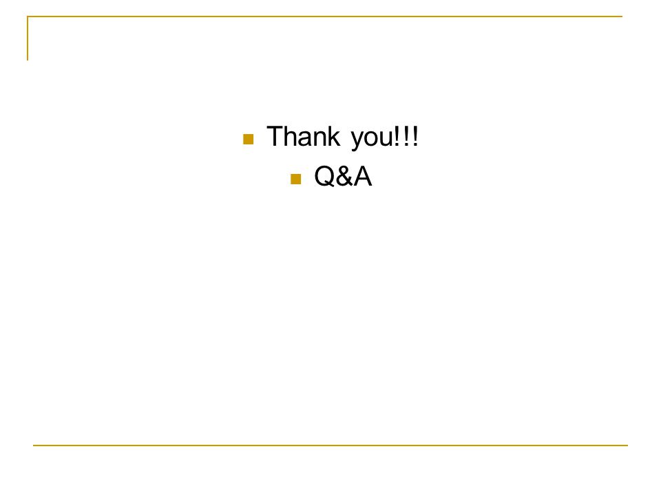 Thank you!!! Q&A