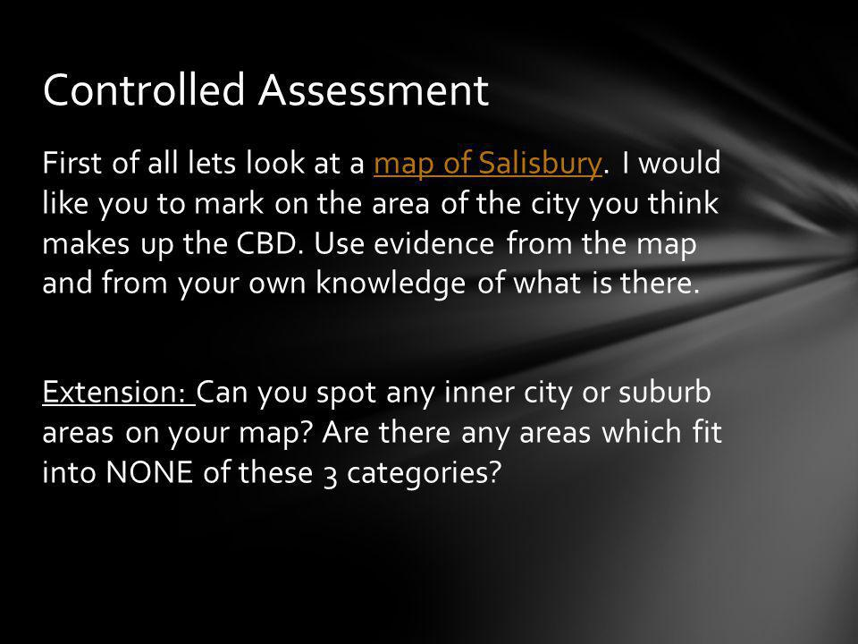 First of all lets look at a map of Salisbury.