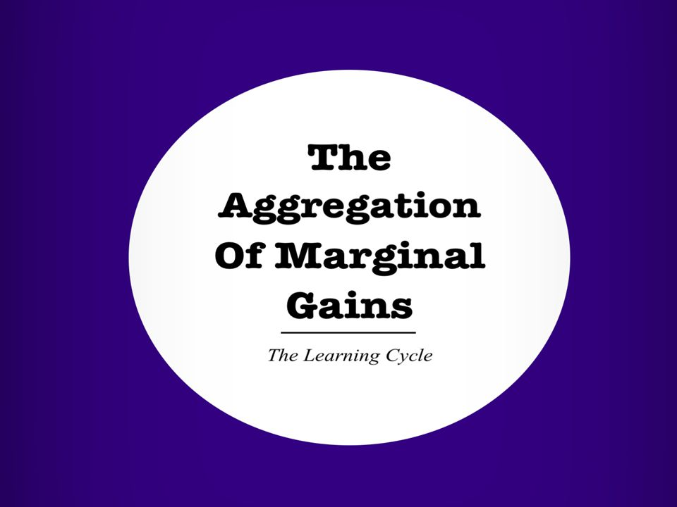 …which is adding together (the 'aggregation') the small details (the 'marginal' elements) of your writing to make it better (the 'gains).