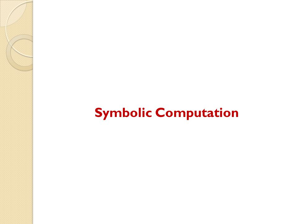 Symbolic Computation