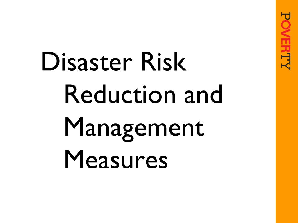 Disaster Risk Reduction and Management Measures