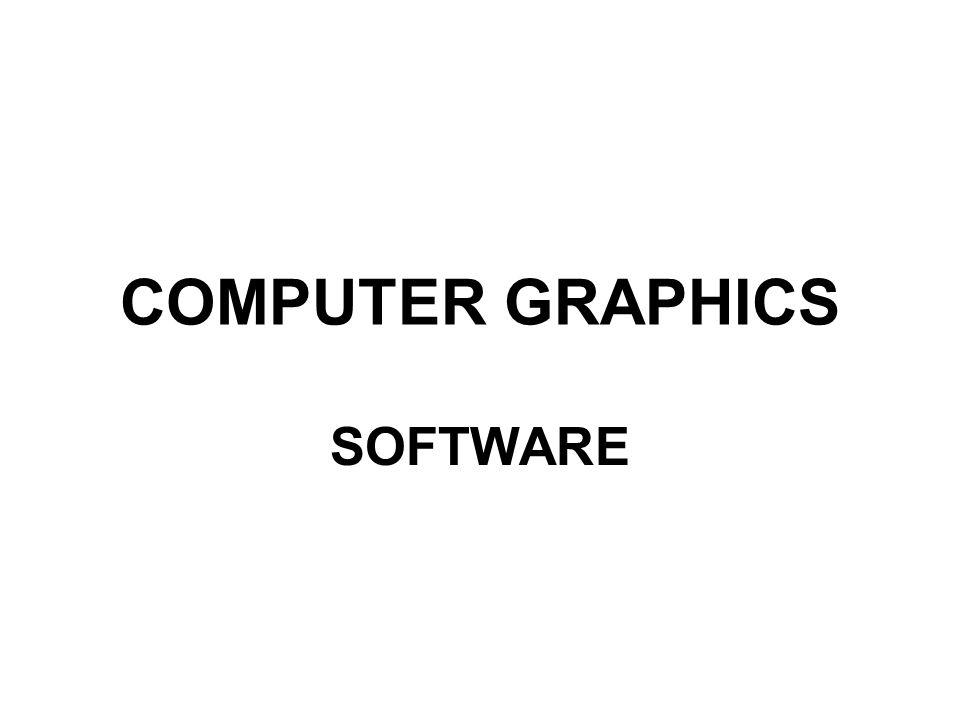 COMPUTER GRAPHICS SOFTWARE