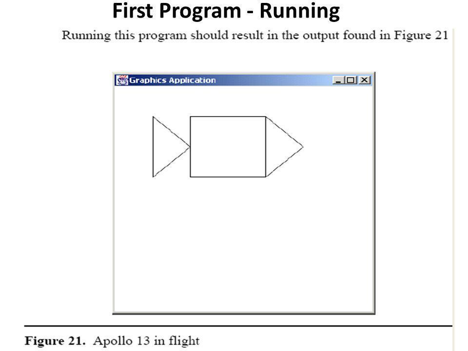 First Program - Running