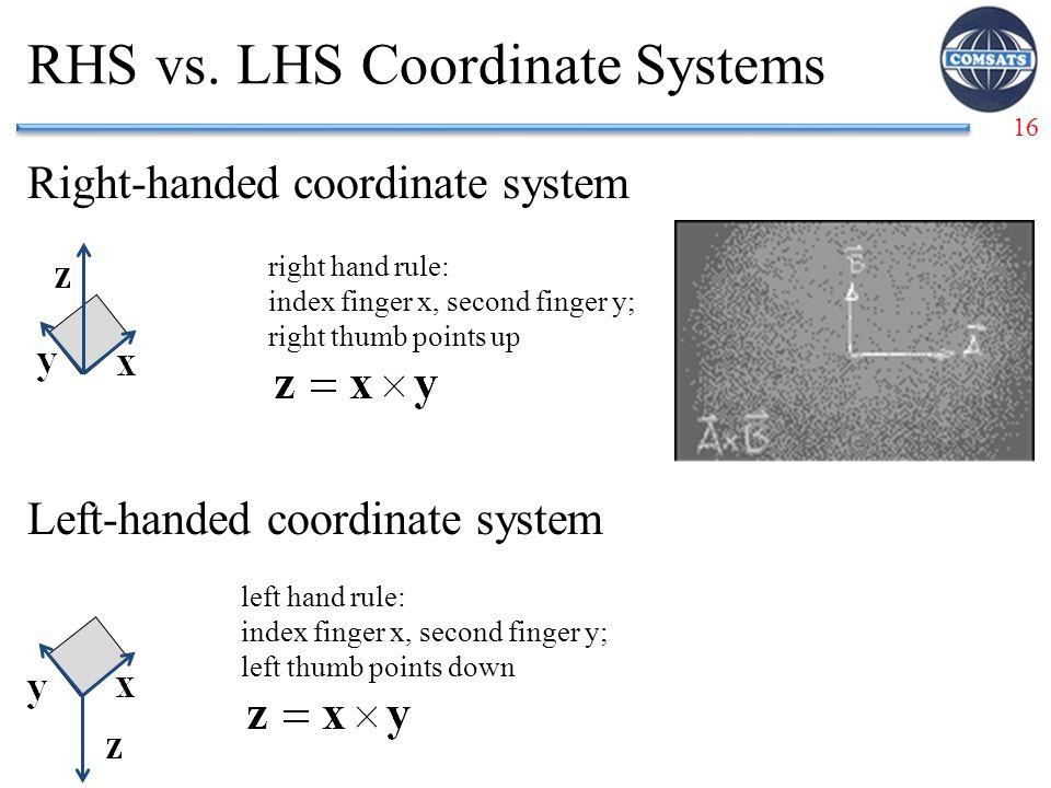 16 RHS vs.