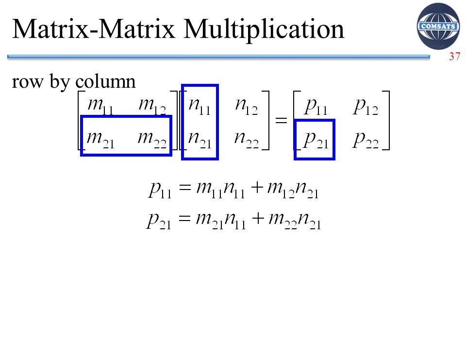 37 Matrix-Matrix Multiplication row by column