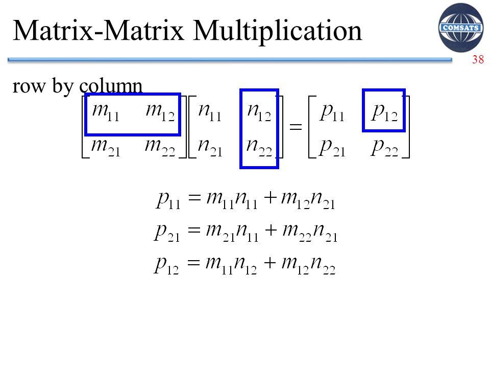 38 Matrix-Matrix Multiplication row by column