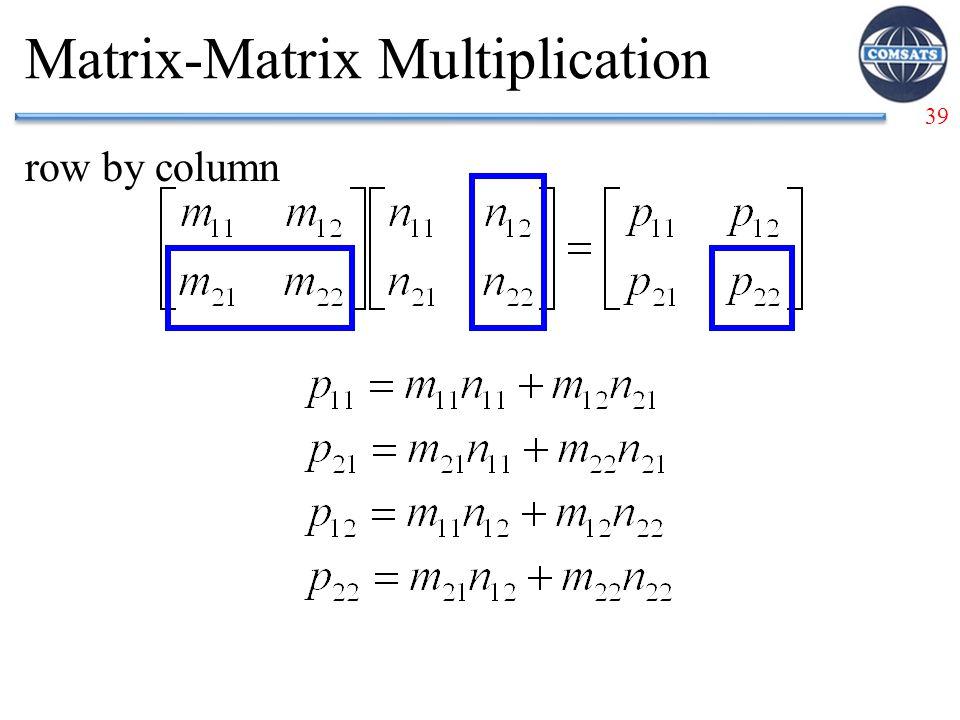 39 Matrix-Matrix Multiplication row by column