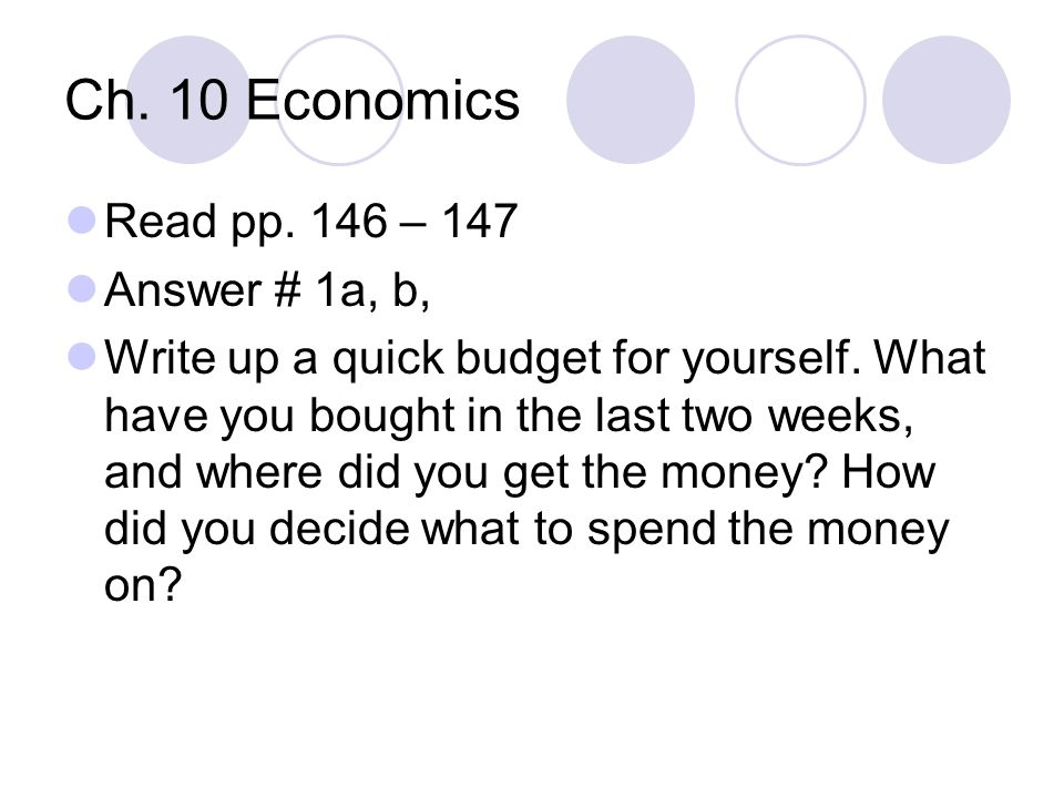 Ch.10 Economics Financial Fable pp.