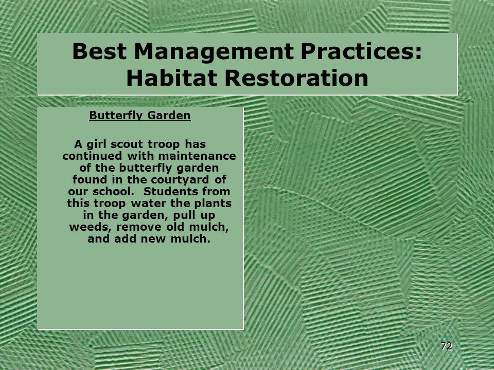 Best Management Practices: Habitat Restoration 72