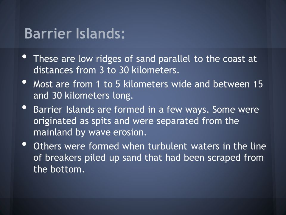 Barrier Islands: A marvelous picture of a barrier island