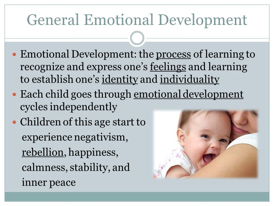 General Emotional Development