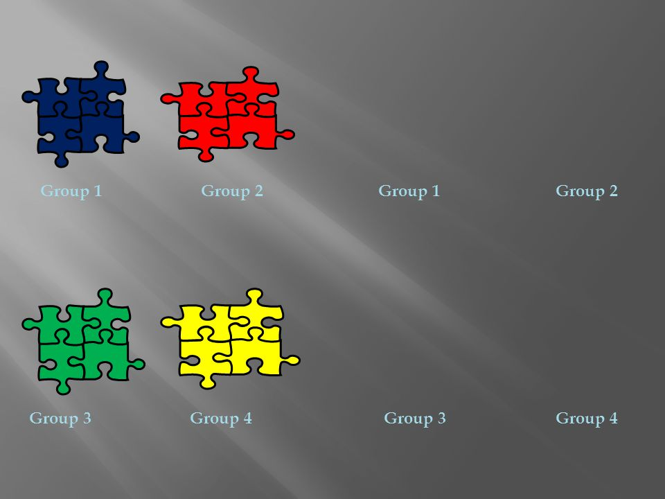Group 1Group 2 Group 3Group 4 Group 3 Group 2Group 1