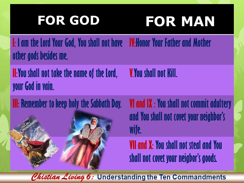 Chistian Living 6: Understanding the Ten Commandments