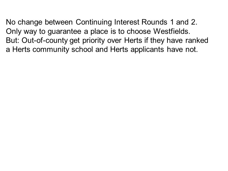 No change between Continuing Interest Rounds 1 and 2.