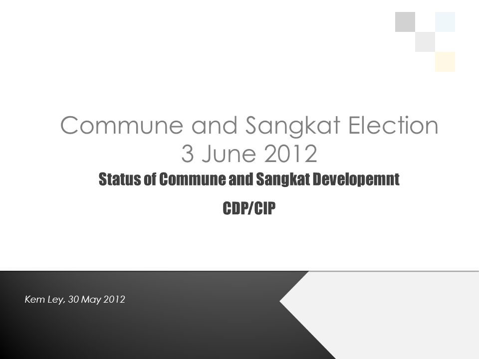 Commune and Sangkat Election 3 June 2012 Kem Ley, 30 May 2012