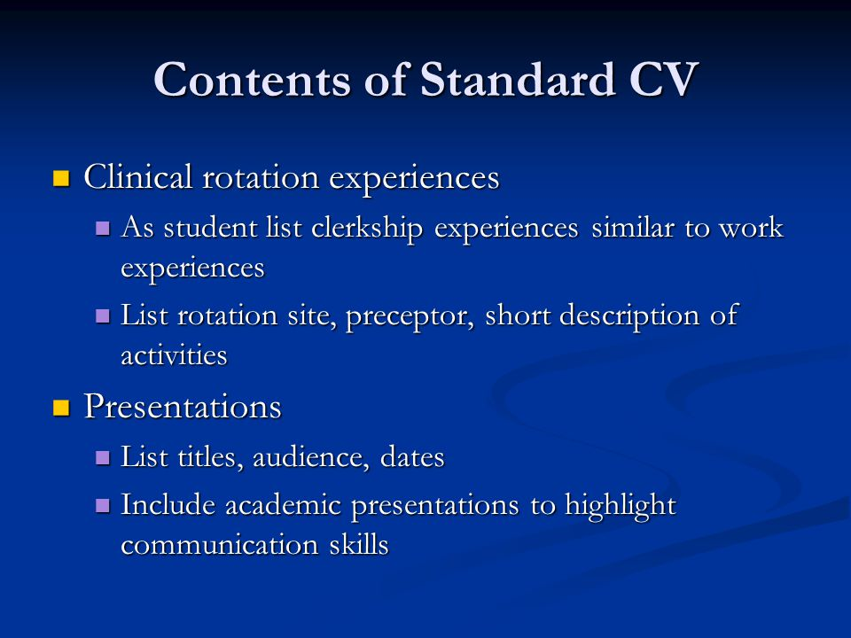 Cover Letters Second/third paragraph Second/third paragraph Refer to CV enclosed and highlight experiences that prepare you for the position Refer to CV enclosed and highlight experiences that prepare you for the position Personalize the qualities listed on CV pertinent to the position Personalize the qualities listed on CV pertinent to the position The most enjoyable experiences I have had during my clerkships occurred during my Pediatrics rotation.