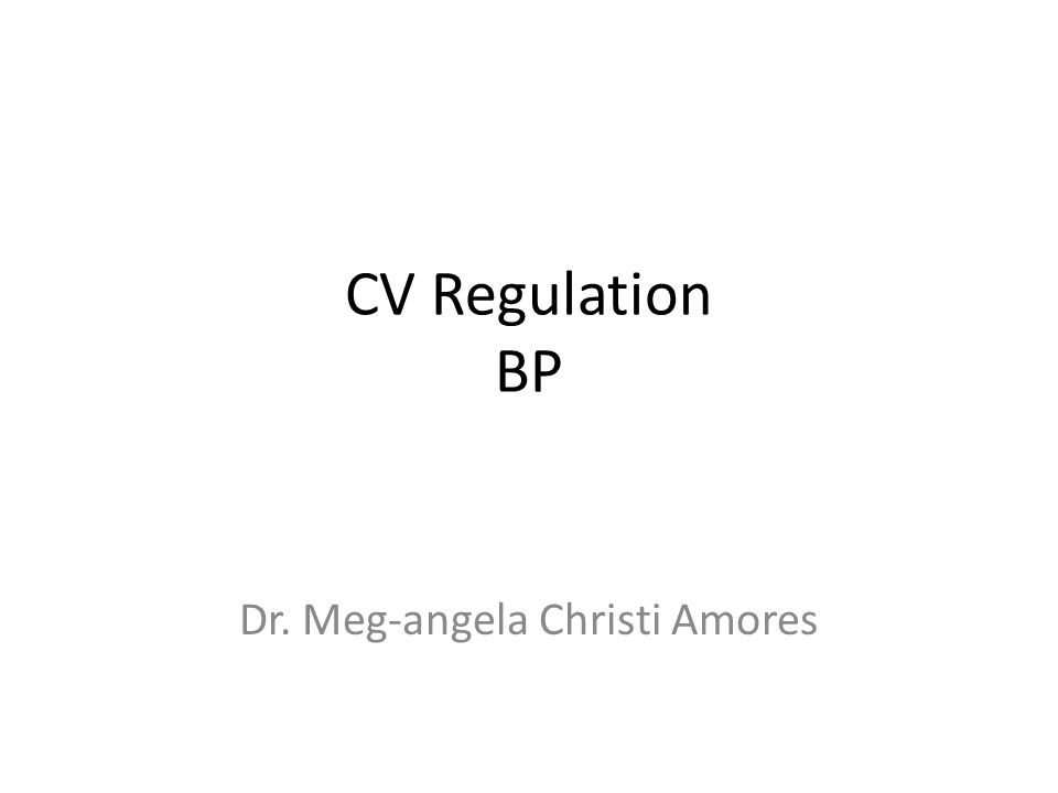 CV Regulation BP Dr. Meg-angela Christi Amores