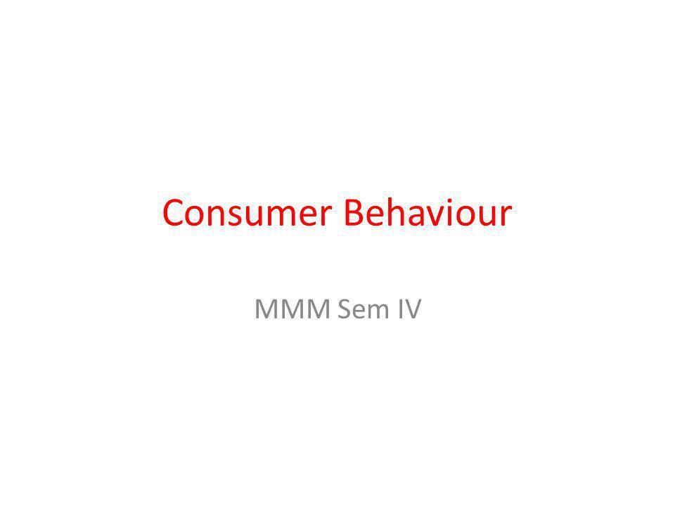 Consumer Behaviour MMM Sem IV