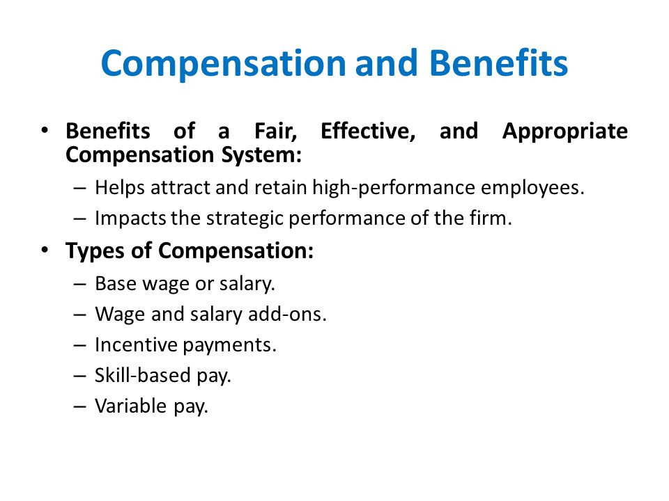 compensation and benefits strategies recommendations 3 essay Research report compensation strategies presented to: management assessment code: rwt1 table of contents executive summary 3 introduction 4 research findings 5 performance based pay 5 salary 6 longevity pay 7 recommendations 8 conclusion 8 references 9 executive summary this report examines 3 different compensation.