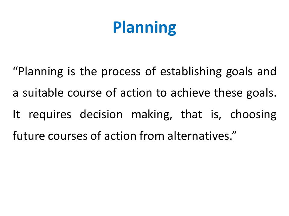 Foundation of Planning Point No. 2…