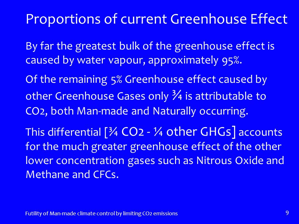 The QUESTIONS continued Are controls on CO2 emissions a rational way to save the World.