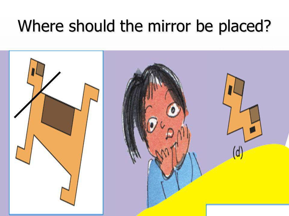 Where should the mirror be placed?