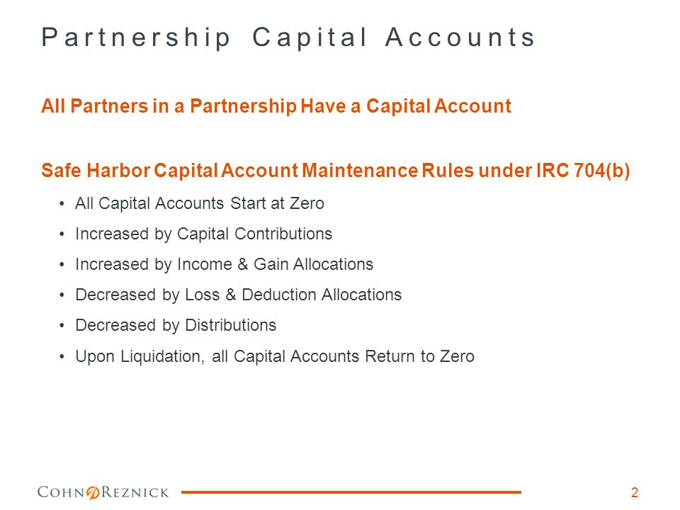 Sample Partnership Agreement 3 Partnership Profit, Loss & Cash allocations controlled by Partnership Agreement Section 5 – Allocations of Profits from Capital Transactions Section 6 – Distributions and Applications of Cash Flow from Capital Transactions Section 10 – Dissolution and Termination of the Partnership