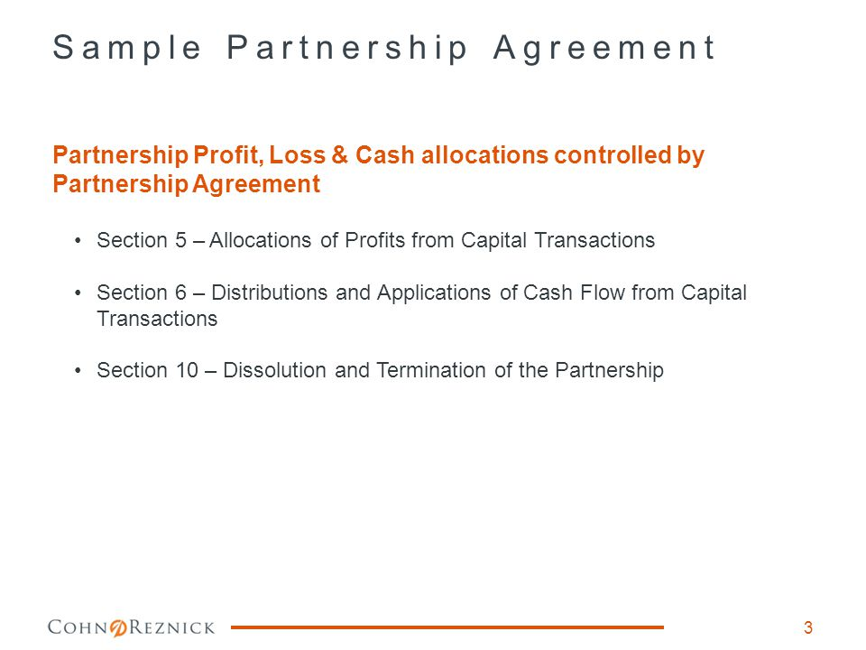 Section 5 – Allocations of Profits from Capital Transactions 4 Profits from a Capital Transaction shall be allocated to the Partners in the following order of priority: A) To the LP to eliminate any negative capital account.