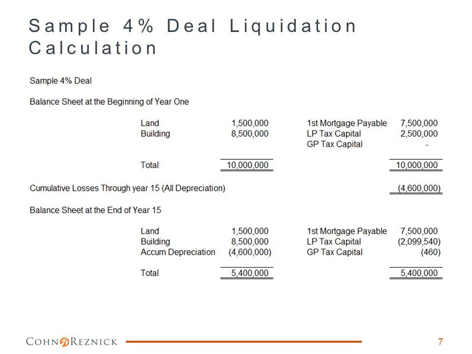 Sample 4% Deal Liquidation Calculation 7