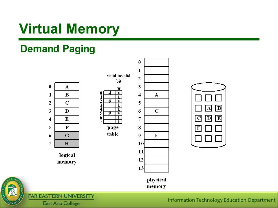 Virtual Memory Demand Paging