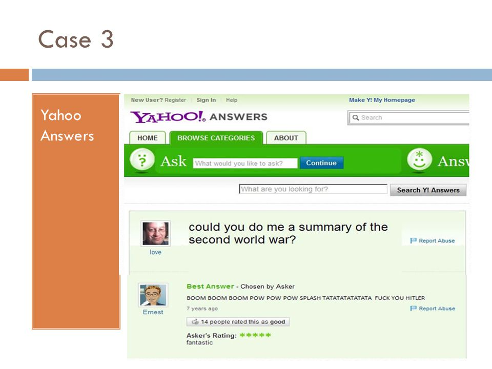 Case 3 Yahoo Answers