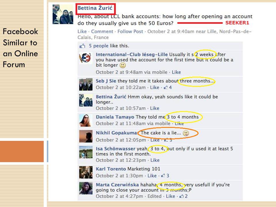 Facebook Similar to an Online Forum