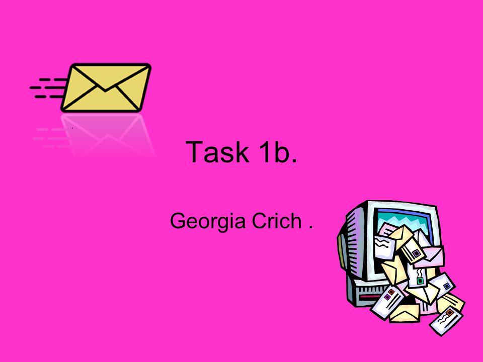 Task 1b. Georgia Crich.