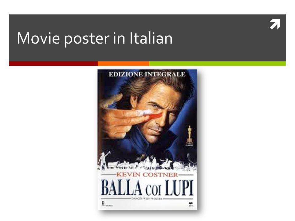  Movie poster in Italian