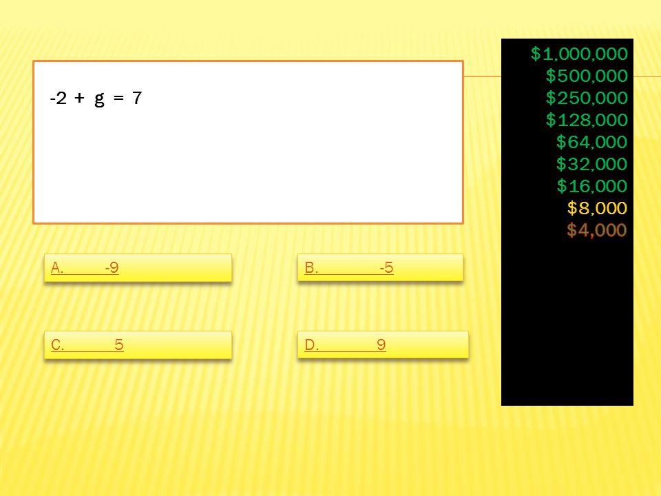 12q / -7 = 30 / 14 A. none of these B. q= -1.25 C. q= -5/7 D. q= 1.25