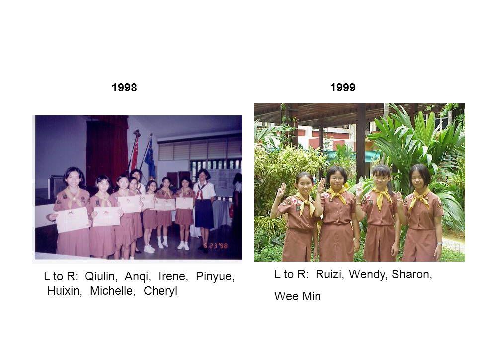 1995 Left to Right: Tingan, Huimin, Meiyu, Jinglin, Joyce, Jean, Shaohui, Meijuan, Guangxuan Sharmaine, Huiping 1997