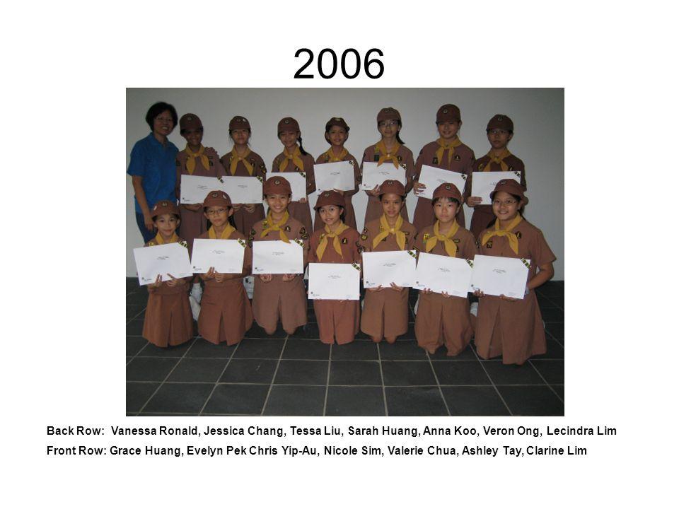2005 Front: Eudora, Esther, Vanessa, Eileen 2 nd row: Melisa Tan, Bernadette, Cheryl, Glenda Back: Kai Xin, Yiwei