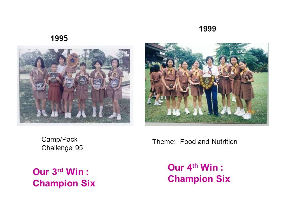 Theme: Tutti-fruitti 1990 1993 Theme: Challenge Our 1 st win : Best Six Our 2 nd win : Champion Six