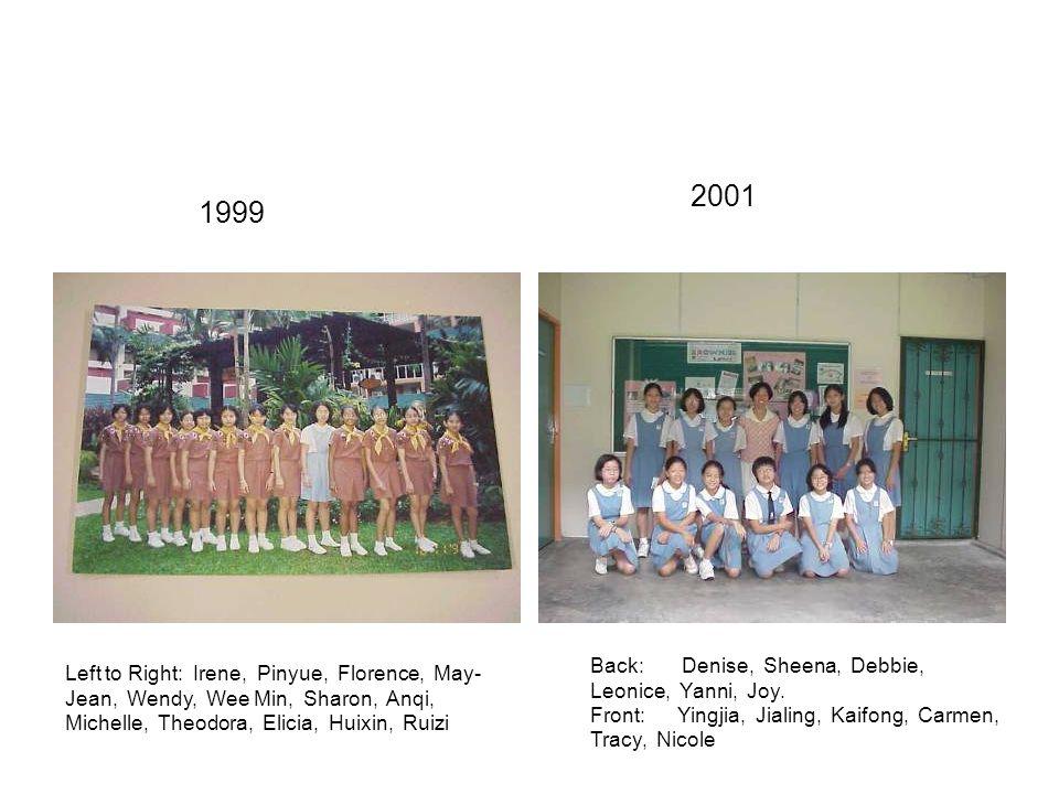Left to Right: Huiping, Elena, Qinying, Rongshan, Magdelene, Lynn, Joyce, Cheryl, Yuting, Qiulin Sharmaine, Shiying 1995 Left to Right: Tingan, Shaohui, Meijuan, Jean, Huimin, Meiyu, Guanglian, Jinglin 1997