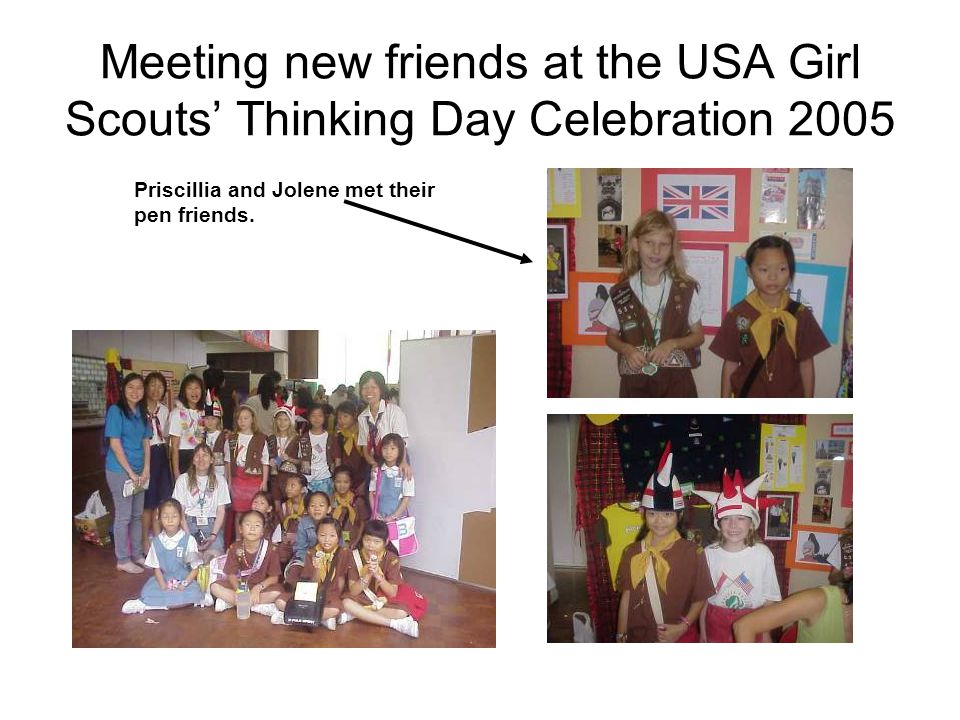 2005 Ebony 's, from Australia, visit to our School USA Girl Scouts' Thinking Day Celebration