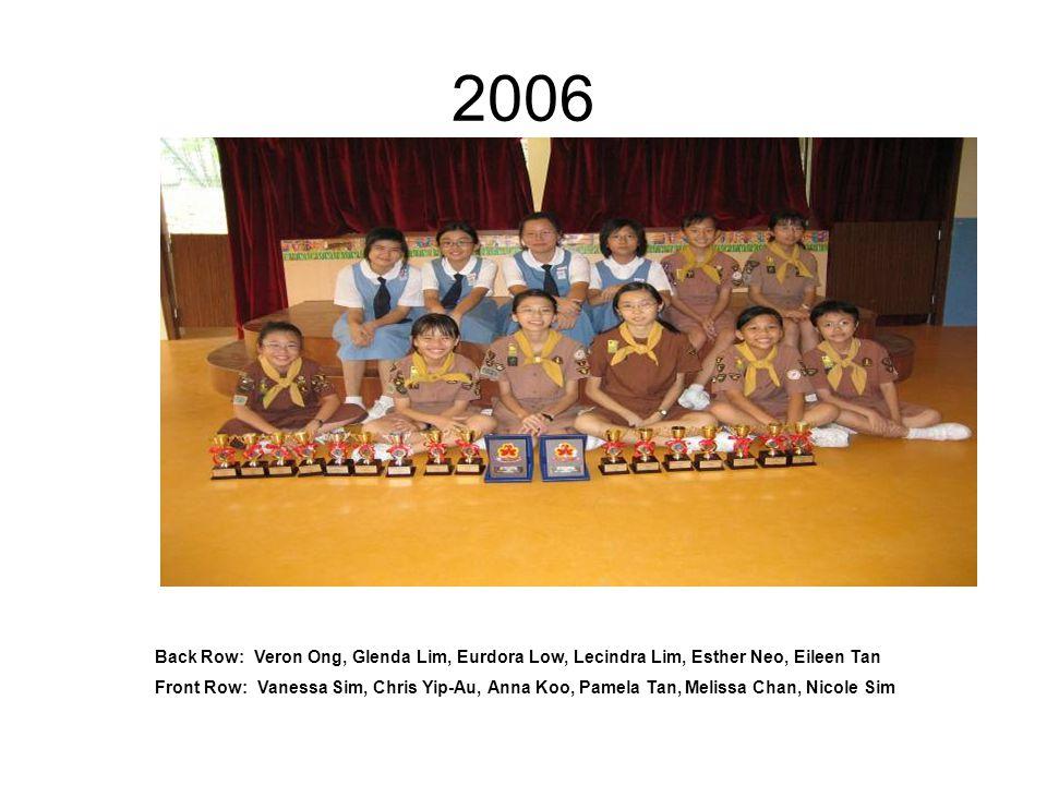 2005 Back Row: Joey Yeo, Amanda Ler, Xin Yi, Fang Wei, Daphne Huang, Olivia Tan, Bernadette Chow, Rachel Sim, Yiwei Front Row: Wanda, Yitong, Clara Lee, Melisa Tan, kaixin, Melissa Lim, Cheryl Lee