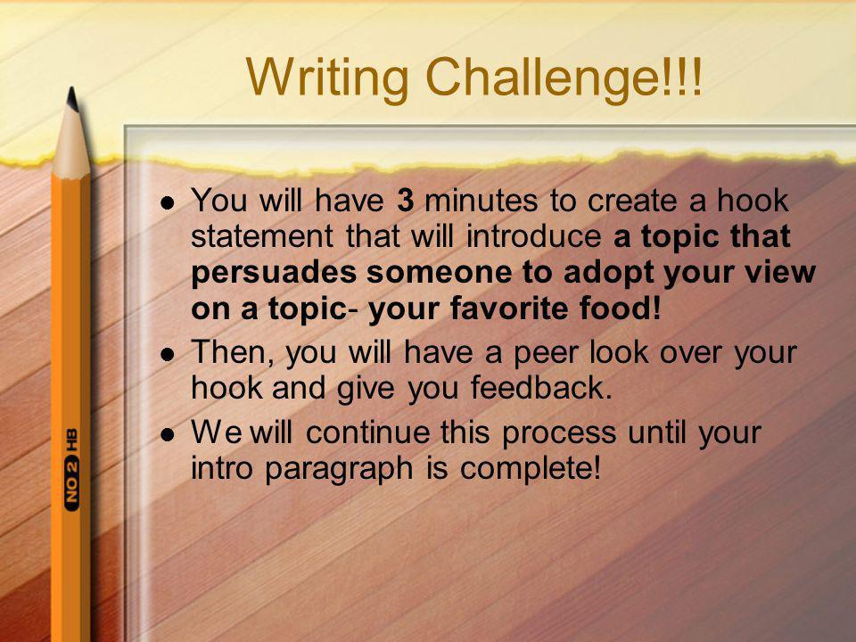 Writing Challenge!!.