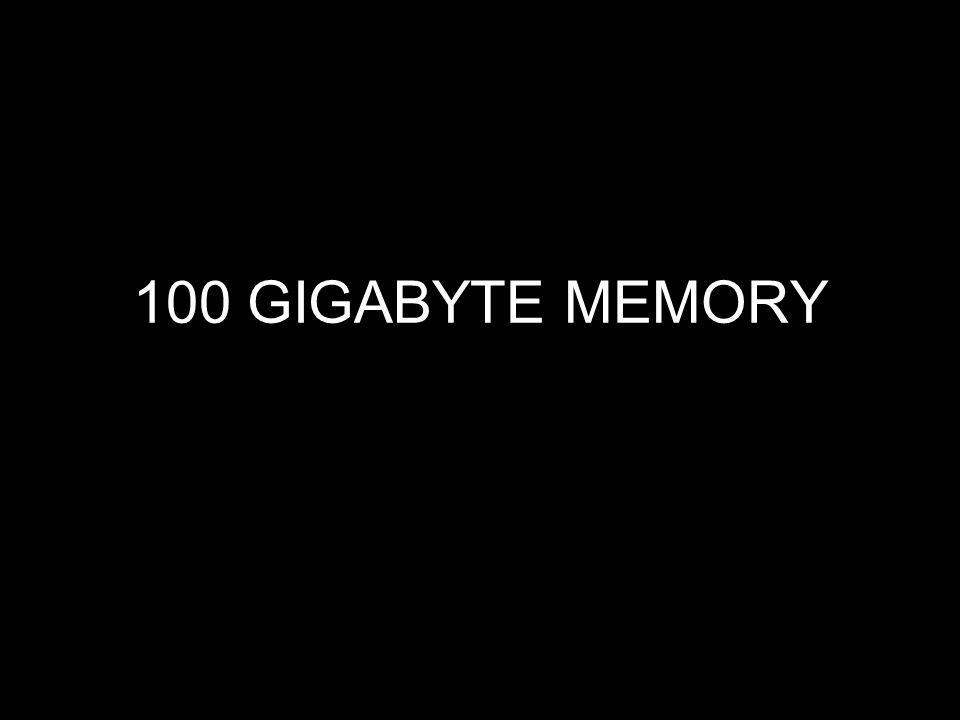 100 GIGABYTE MEMORY
