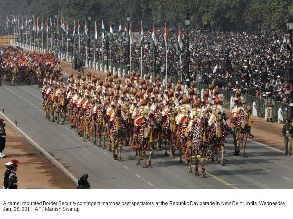 An Indian army contingent of the Punjab Regiment marches in the Republic Day parade in New Delhi, India, Wednesday, Jan.