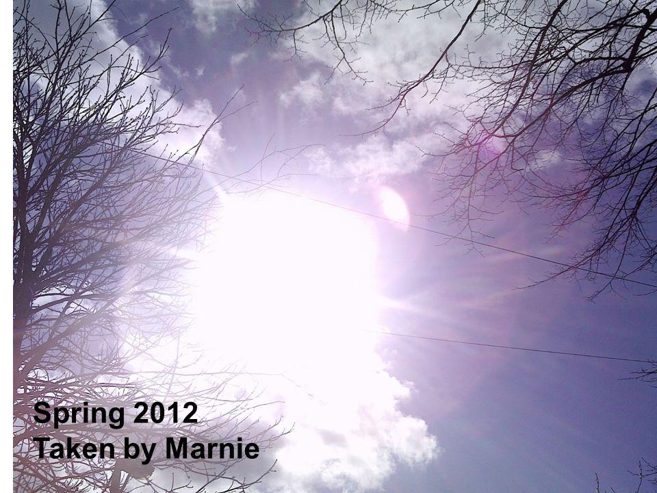 Spring 2012 Taken by Marnie