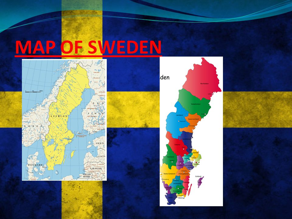 MAP OF EUROPE SHOWING SWEDEN sweden